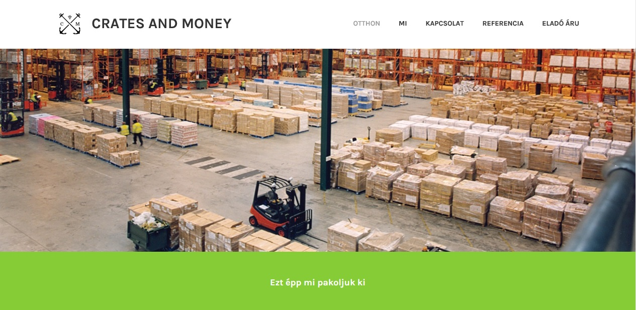 Crates and Money landing page screenshot